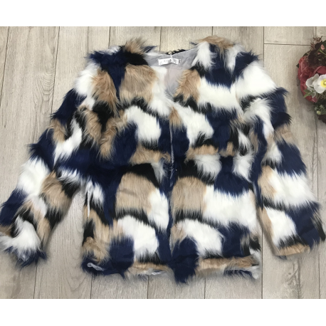 Jacheta de blana multicolora Serene