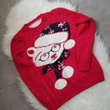 Pulover tricotat cu model Ursulet