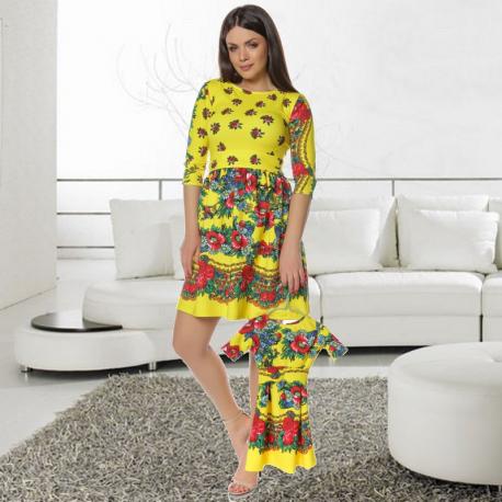Set Rochii Mama-Fica Gypsy clos galben