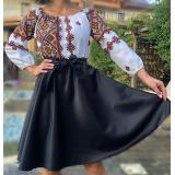 Rochie scurta cu motive geometrice Matilda negru