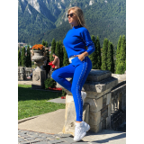 Trening tricot Fashion Albastru electric