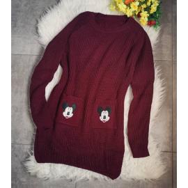 Pulover tricotat cu buzunare Micky