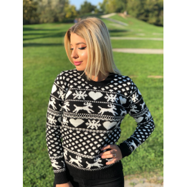 Pulover tricotat cu motive Christmas