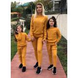Set Trening tricot Mama-Fiica Minnie mustar