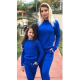 Set Trening tricot Mama-Fiica Minnie albastru