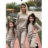 Set Trening tricot Mama-Fiica Minnie bej