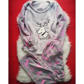 Pijama de dama Winter Gri