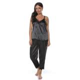 Set pijamale 4 piese din satin negru