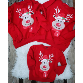 Bluza copil Rudolf rosu