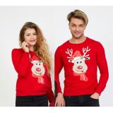 Set bluze pentru El si Ea Rudolf rosu