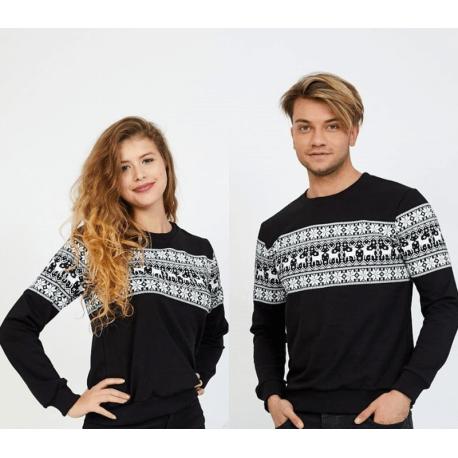 Set bluze pentru El si Ea Winter negru Idei Cadouri de Craciun Online