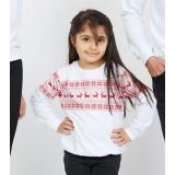 Bluza copil Winter alb