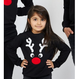 Bluza copil Reindeer negru