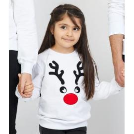 Bluza copil Reindeer alb
