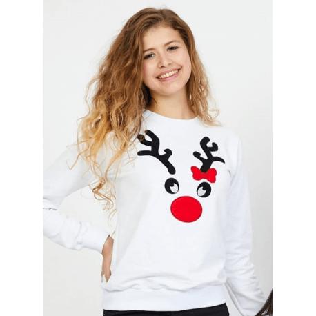 Bluza dama Reindeer Idei Cadouri de Craciun Online