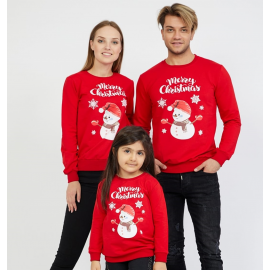 Set Bluze Merry Christmas Family