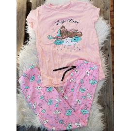 Pijama dama Sleep Time roz