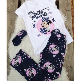 Pijama dama Minnie cute alb
