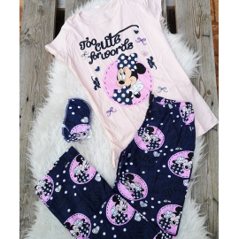 Pijama dama Minnie cute roz