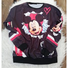 Bluza dama cu model Mickey Mouse negru