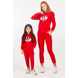Set Trening Mama-Fiica Bugs Bunny rosu