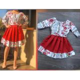 Set rochii Mama-Fiica cu motive traditionale Lora