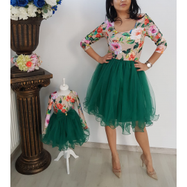 Set rochii Mama-Fiica cu model floral Anemona