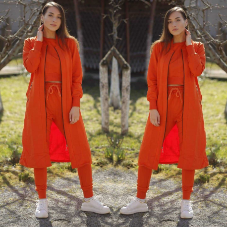 Compleu 3 piese Emiliana portocaliu