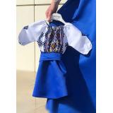 Rochie fetita cu motive geometrice Matilda albastru