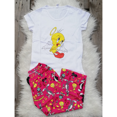 Pijama dama Tweety Alb