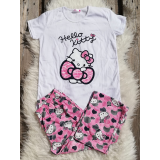 Pijama dama Hello Kitty roz
