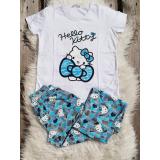 Pijama dama Hello Kitty albastru