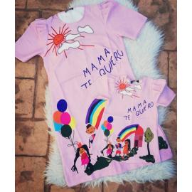 Set Rochii Mama-Fiica Mama Te Quero roz