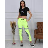 Set Top si Pantaloni Fosforescenti Love neon