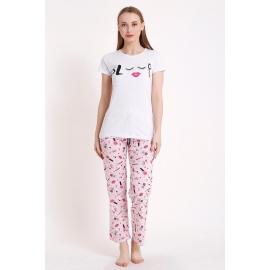Pijama dama Sleepy alb