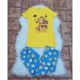 Pijama dama Garfield Heart galben