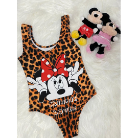 Body dama Minnie Mouse Leopard