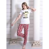 Pijama dama Cool Snoopy Alb