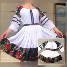 Set rochii Mama-Fiica cu imprimeu geometric Sora verde