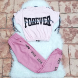 Set 2 piese Top si Pantaloni Forever Love