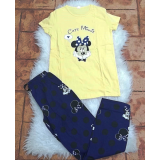 Pijama dama Minnie Dream Galben
