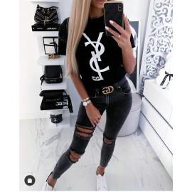 Tricou dama YSL negru
