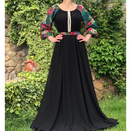 Rochie lunga cu motive florale Ileana
