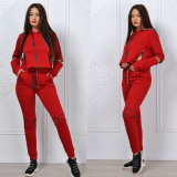Trening dama Zipper Girl rosu