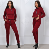 Trening dama Zipper Girl bordo