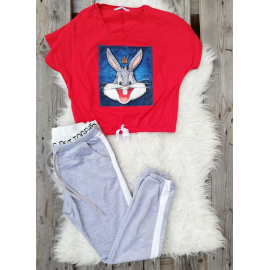Set top si pantaloni Bunny