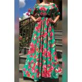 Rochie lunga cu  imprimeu floral Flower