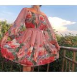 Rochie clos din voal Florance roz