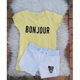 Set tricou si pantaloni scurti Bonjour