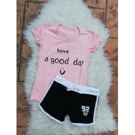 Set tricou si pantaloni scurti Good Day